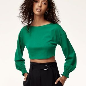 NWT Wilfred ENZO Green Long Sleeve Crop   XXS